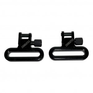 1.25 inch solid cast rifle sling swivels, front view